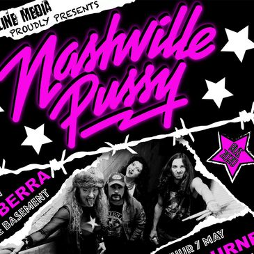 Nashville Pussy Australian tour poster 2020 australia hardline media brisbane buy tickets