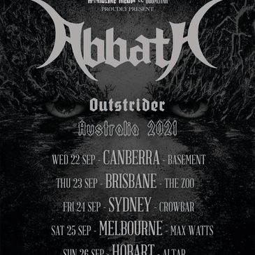 Abbath Outstrider Australian tour Australia 2021 buy tickets hardline media