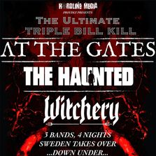 Triple Bill Kill At The Gates The Haunted Witchery Australian tour poster 2019 Swedish metal