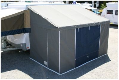 Full Canvas Annex, Slate and Navy Canvas, standard with 1 door 2 windows