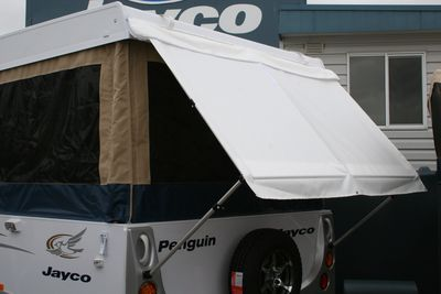 Penguin Bed End Awnings provide both protection from the elements and privacy