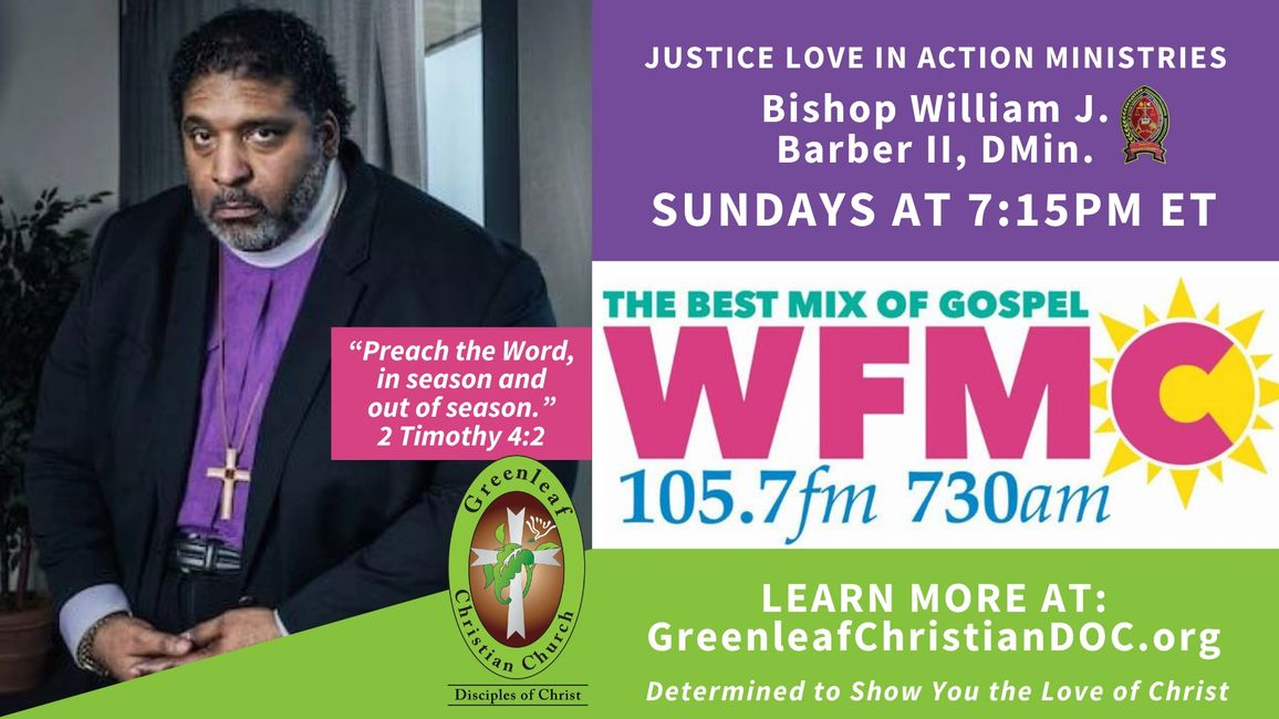 Greenleaf on the Radio, Sundays at 7:15pm ET, on WFMC 105.7 FM / 730 AM