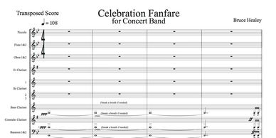 Celebration Fanfare for Band score page 1