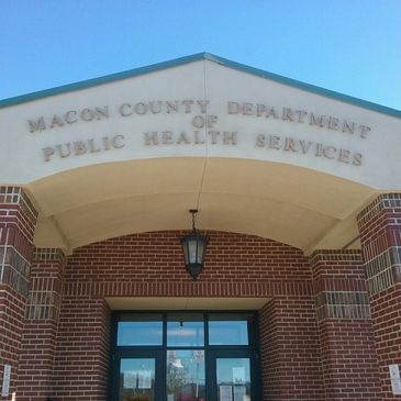 Macon County Department of Public Health Services building