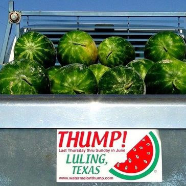 Home to the Luling Watermelon Thump Festival the last Thursday through Sunday in June