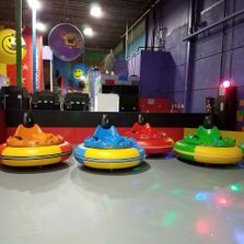 Bumper cars, laser tag, trampoline, trampoline park, arcade, birthday party, indoor fun, kids play
