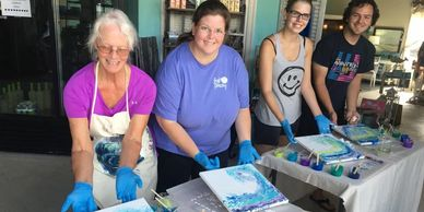 Art Classes available at Salty Mermaid Marketplace