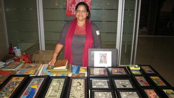 Madhubani art display at JPG Morgan