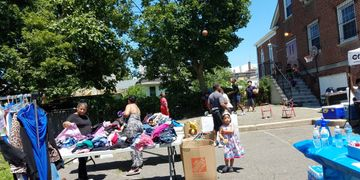 Clothing Give-away at a CCSPA local fair