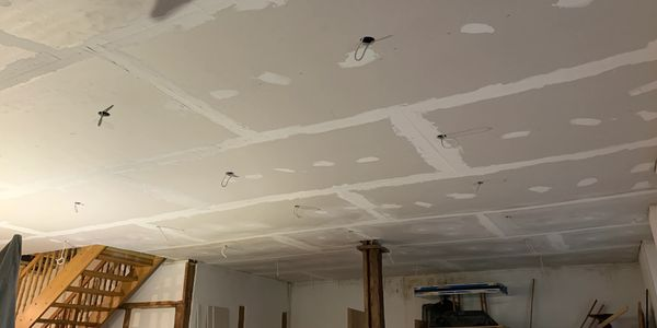 Ceiling replacement at P.ink Door Safe House, Germany.