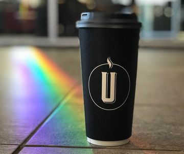 Finally found whats at the end of the rainbow.....a cup of STONE BRÚ COFFEE