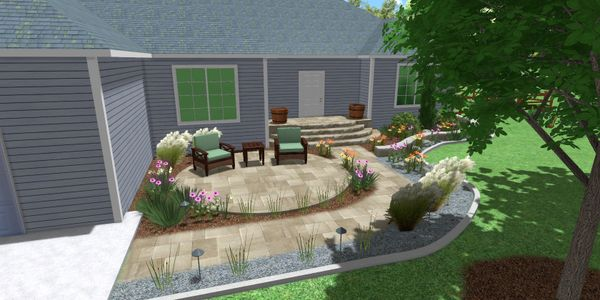 Paver patio and entryway design in Grand Junction, CO