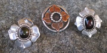 Sterling silver and copper rings