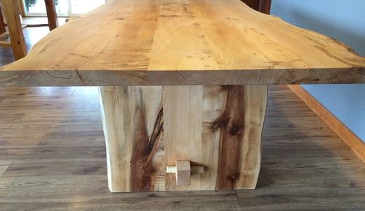 Live edge maple table by Deep Forest