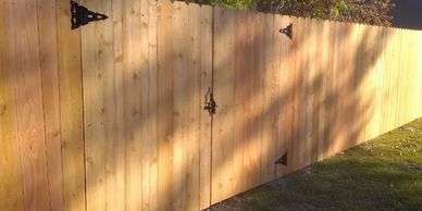 Wood western red cedar privacy fence