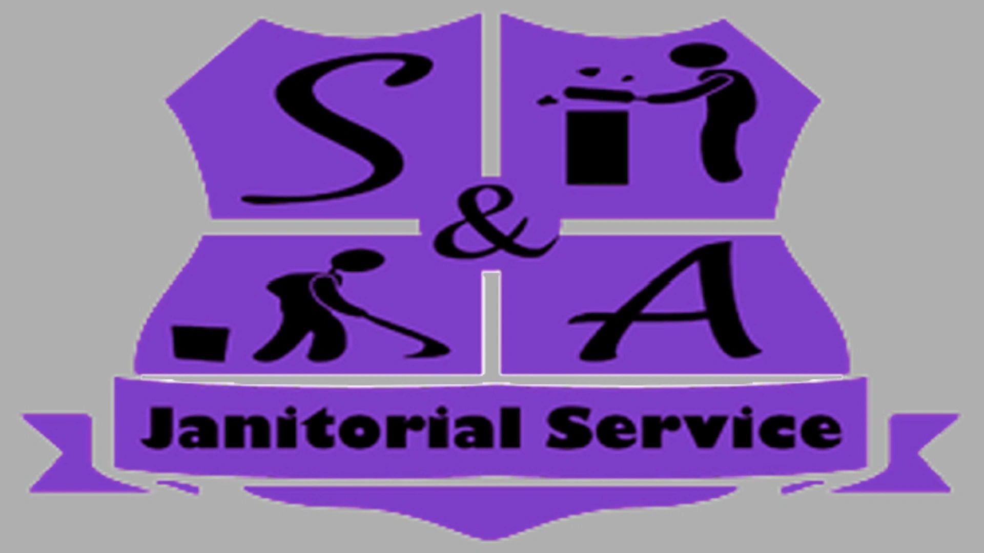 S and A Janitorial Service LLC Commercial cleaning company logo.