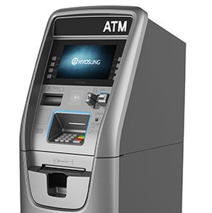 Hyosung Halo 2 Halo II Halo ll EMV Chip Card Automated Teller Machine Retail ATM Cash Dispenser POP money All Point RFID ATM Cardless Cash Libertyx Bitcoin