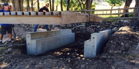 Cattle guard installation