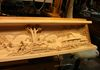 Carving Finished: Right Side of Mantel Face