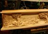 Carving Finished: Left Side of Mantel Face