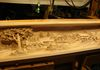 Carving Finished: Center of Mantel Face