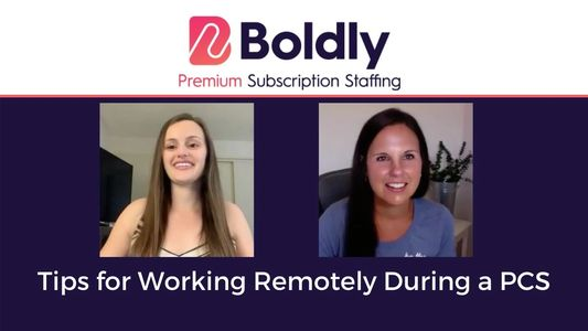 Devin Drake Boldly Subscription Staffing Jaime Chapman Working Remotely During a PCS Begin Within