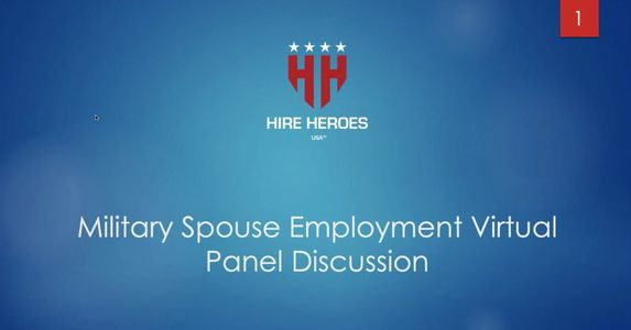 Hire Heroes USA HHUSA Kelly Jaime Chapman military spouse expert panel interview on employment