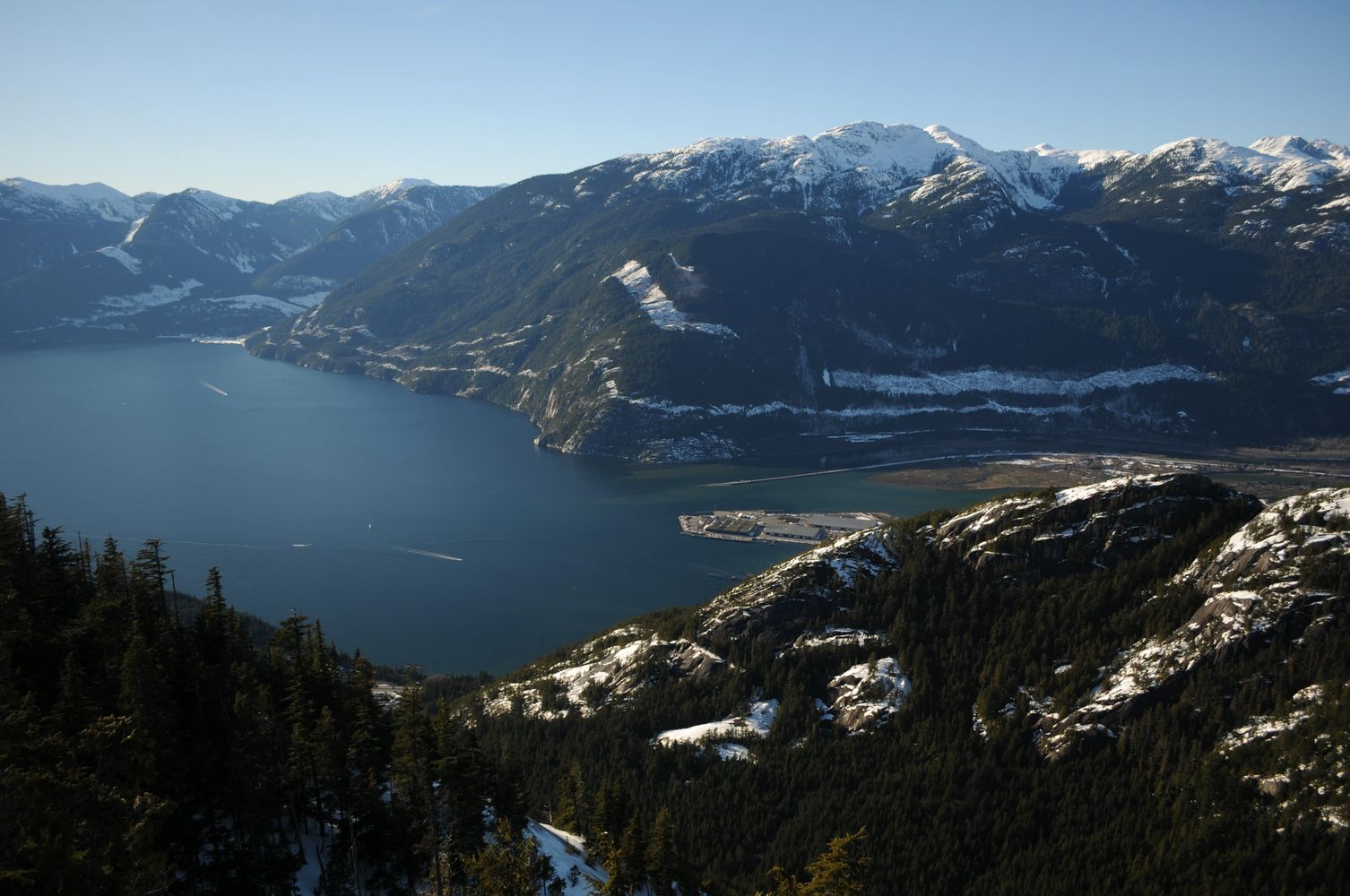 Squamish BC, from the Sea to Sky Gondola. Photo by Jack McKague