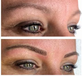 Before and After Microblading by Chante Rivera.