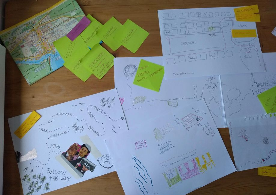 mapas, post its