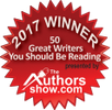 Winner of 50 Great Writers You Should Be reading 2017