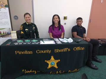 Pinellas County Sheriff Officers providing employment opportunities for our youth.