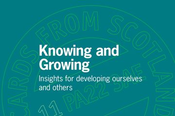 Knowing and Growing: Insights for developing ourselves and others Alan McLean