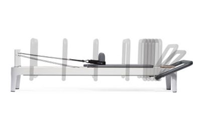 Allegro 2 Reformer with different footbar placement options.