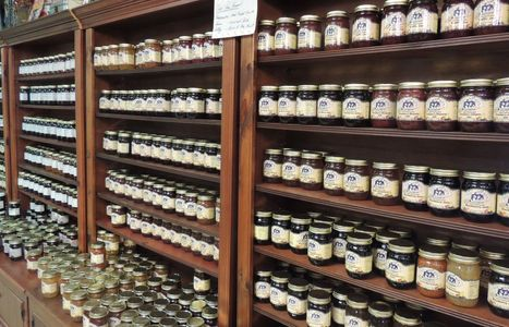 Glass jar jams jelly and preserves