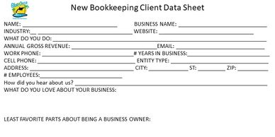 New Bookkeeping Client Questionnaire