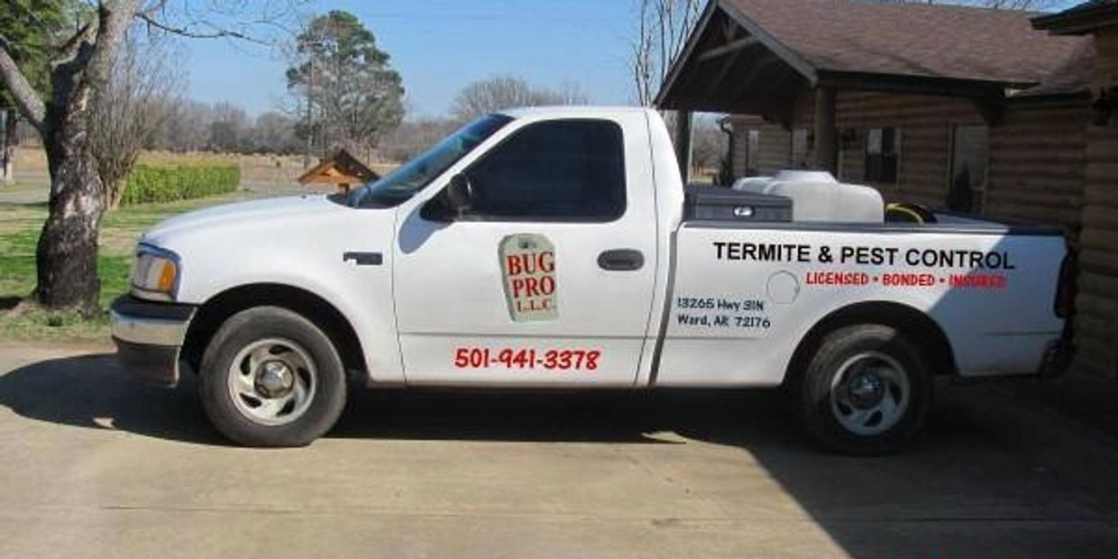 Our first truck we started with when we started up our termite and pest control company in Ward Ar.