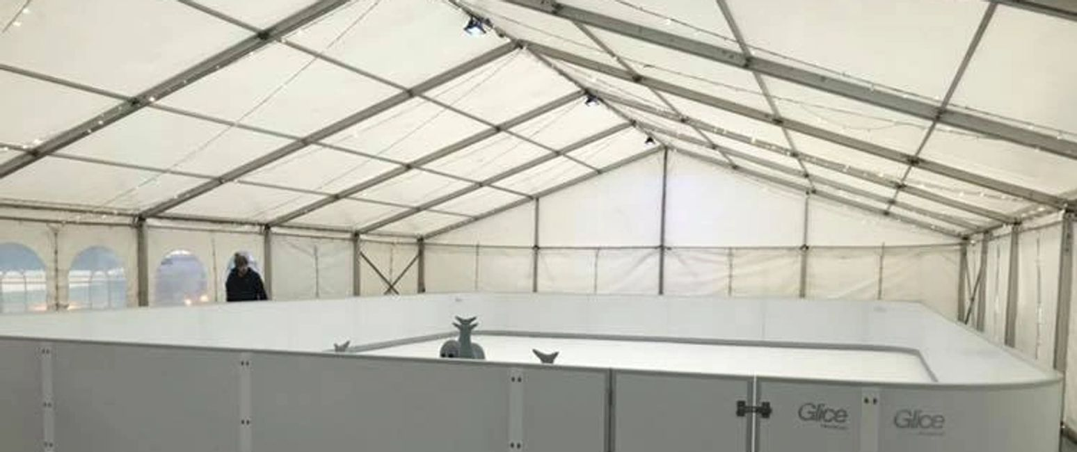 Scotland Perthshire corporate ice rink marquee gourlay events