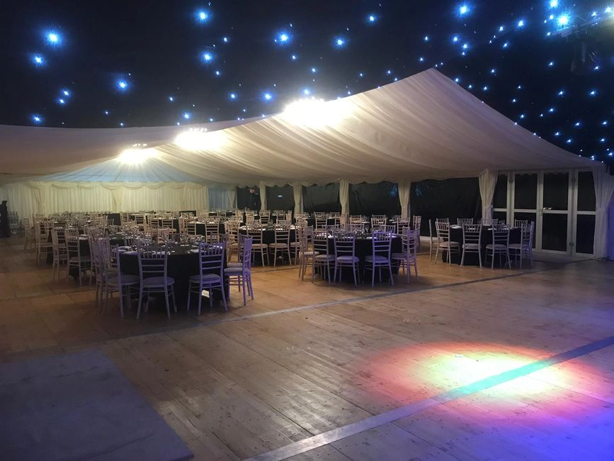 Scotland Perthshire Party catering marquee gourlay events lighting