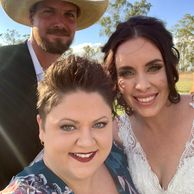 Celebrant Kate with married couple from Mareeba