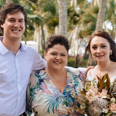 Blessings by Kate Bellman; Kate with Kael & Rhi after their ceremony at Alamanda Chapel - Palm Cove