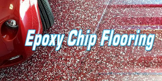 Epoxy Chip Garage Flooring
