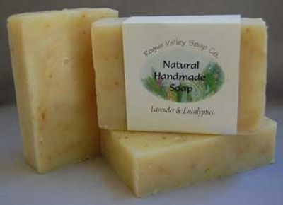 The combination of the pure essential oils of eucalyptus and lavender makes this hand made soap espe