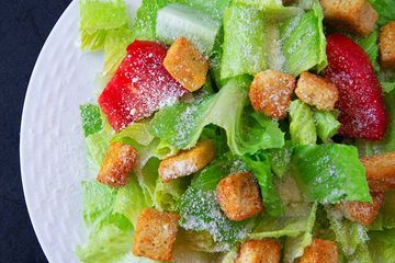 caesar salad romaine lettuce tomatoes croutons parmesan cheese philly pizza & grill