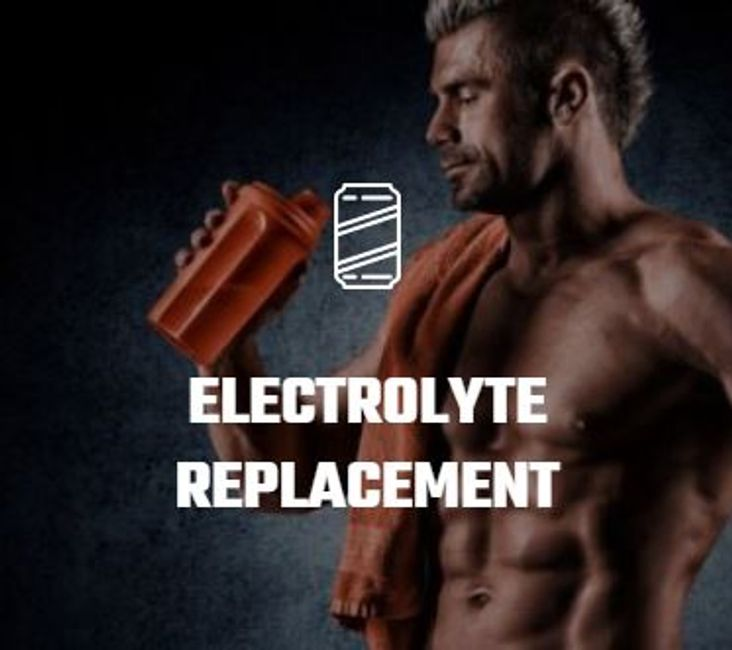Fitness guy replacing electrolytes