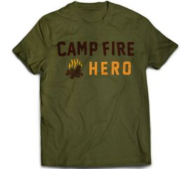 Bunk Captain - Camp Fire Hero - T-Shirt