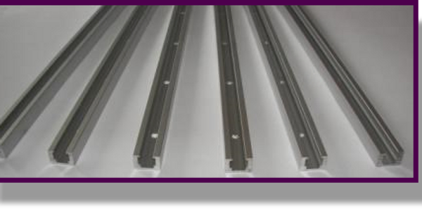 Clampus Systems T-Track. Anodized aluminum track with predrilled holes.