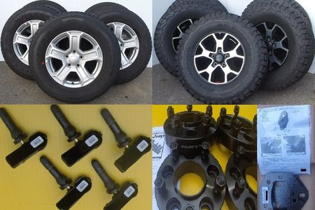 Tire and wheel packages, TPMS, Wheel Adapters, leveling lift kits Nashua NH