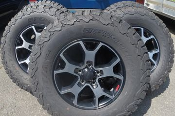 Wheel number 6BZ39TRMAA Jeep Wrangler Rubicon, BF Goodrich 285/70/17 KO2 All Terrain 33 inch tire.