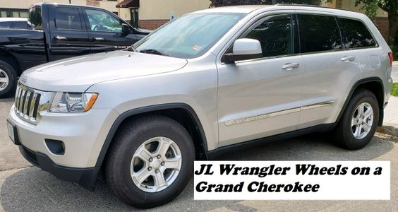 Grand Cherokee with JL Wrangler wheels, WK with JL wheels